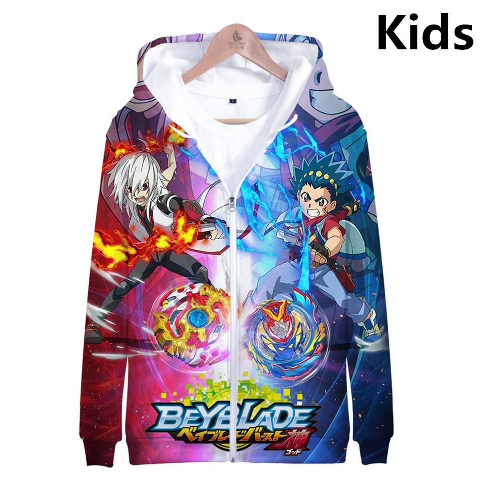 3 To 14 Years Kids Hoodies Beyblade Burst Evolution 3d Printed Hoodie Sweatshirt Harajuku Streetwear Jacket Children Clothes
