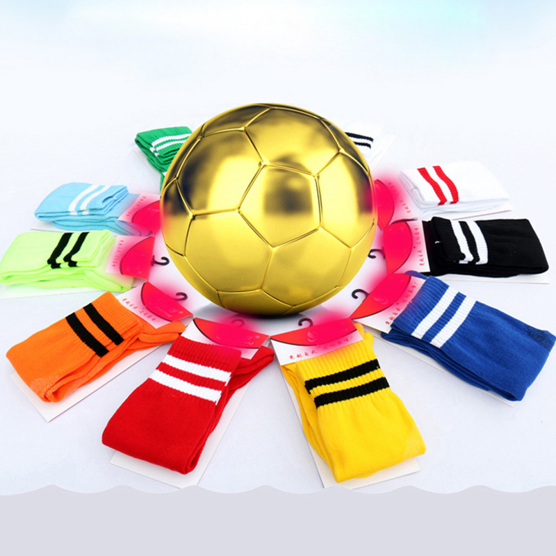 Adult Children Football Socks Men's Tube Socks Children Pure Cotton Thin Anti-slip Profession Training BOY'S Stockings