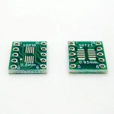 Darmowa wysyłka 50 sztuk SOT23 MSOP10 UMAX do DIP10 płyta transferowa DIP tablica do notatek Pitch Adapter nowy tanie i dobre opinie standard Glass fiber SOT23 MSOP10 UMAX To DIP10