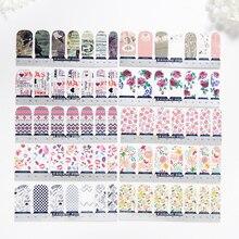 14tips Nail Art Adhesive Sticker Christmas DIY Flower Manicure Snowflake Shiny Sequins Polish Strips Wraps