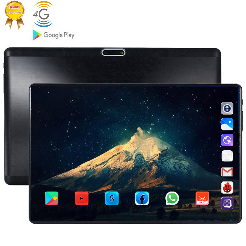 Laptop Pc 128G Father Birthday Present Android 9.0 10.1 Inch Tablets Deca 10 Core 4G LTE 8GB RAM 128GB ROM 2.5D Tablets Pc
