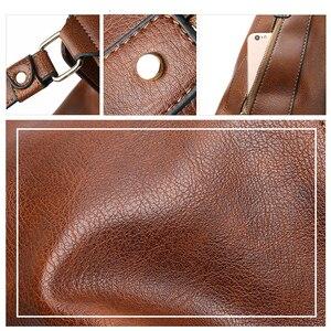 Image 4 - Luxe Handtassen Vrouwen Tassen Designer Zacht Lederen Tassen Voor Vrouwen 2020 Hobos Europa Crossbody Tas Dames Vintage Beroemde Merk Sac