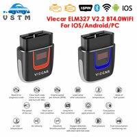 Viecar-Herramienta de diagnóstico de coche, accesorio OBD2 OBD II/EOBD, soporte para Windows/Android/iOS, Viecar VP001-4 V2.2, con Bluetooth wifi/USB 18F25K80