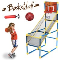 Basketball Stands Removable Adjustable Kids Basketball Goal Hoop Toy Set Basketball for Boys Training Practice Accessories