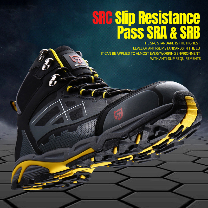 LARNMERN Mens Steel Toe Work Safety Shoes Lightweight Breathable Anti-smashing Anti-puncture Anti-static Protective Boots 5