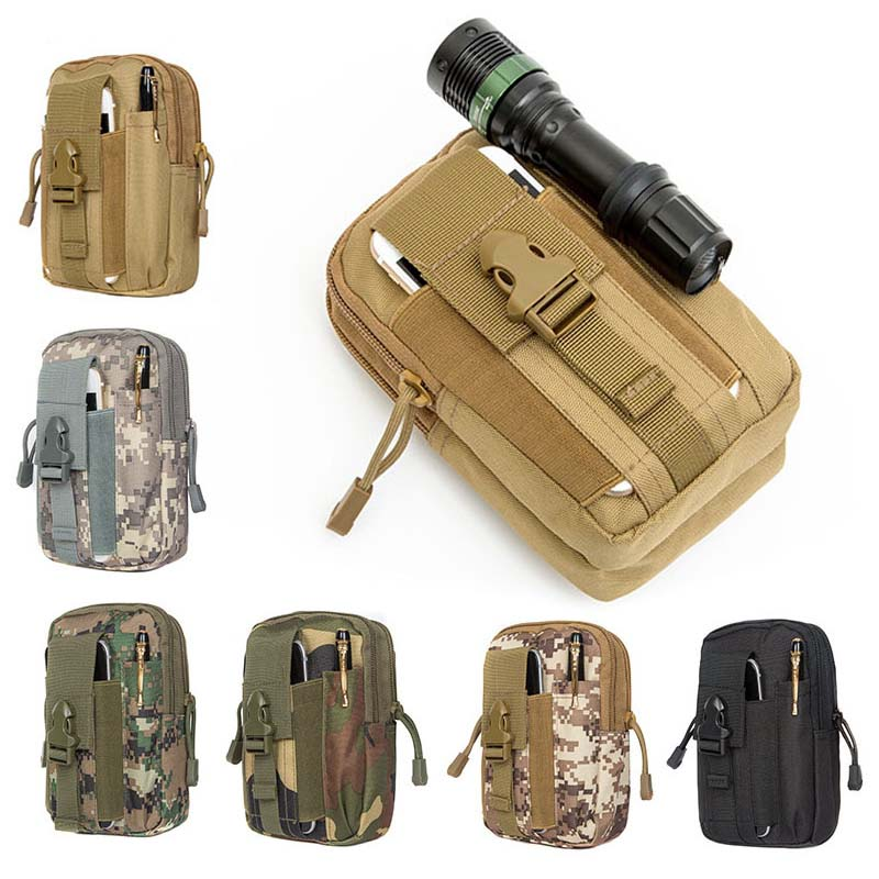 Outdoor Portable Hunting Multi-Functional Belt Waist Bag Walking Camping Oxford Cloth Waterproof Tactical Waist Bag
