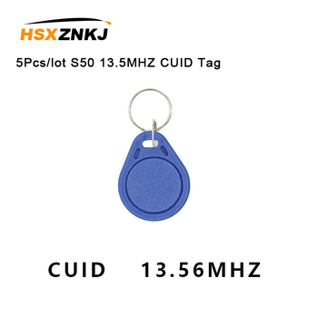 5Pcs/lot Keyfobs Token Tags S50 13.5MHZ CUID Changeable MF S50 1K IC Keys NFC Clone Copy  Block 0 Writable 14443A 5pcs lot uid changeable ic tag keyfob for s50 1k 13 56mhz writable 0 zero hf iso14443a chinese magic backdoor command