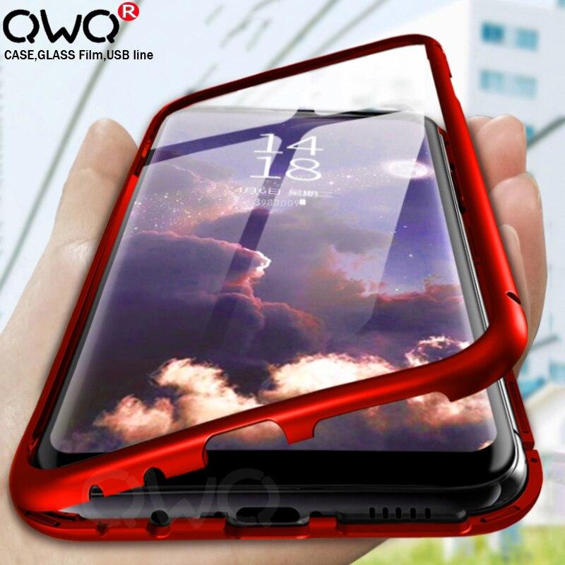 360 cubierta a prueba de golpes caso de Huawei P30 P20 P10 Lite Mate 10 20 30 Pro Y5 Y6 Y7 Y9 primer P Smart 2019 bolsa de protección