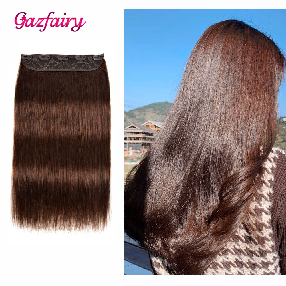 Gazfairy Clip In One Piece Human Hair Extensions 14