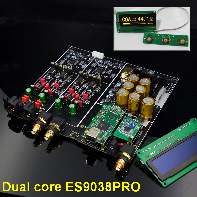 New HIFI Dual-Core ES9038PRO Bluetooth 5.0 XMOS XU208 / Amanero USB <font><b>Optical</b></font> coaxial decoder <font><b>DAC</b></font> <font><b>Board</b></font> APTX HD image