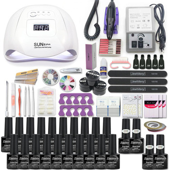 Manicure Set Acrylic Nail Kit With 120/54W Lamp Choose Gel Polish Art  Machine All For - discount item  30% OFF Nail Art & Tools