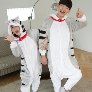 Image 5 - Kigurumi Stitch Long Sleeve Onesie For Adult pajamas women winter plus size Kegurumi Homewear Warm Homewear Cute Animal Pajamas