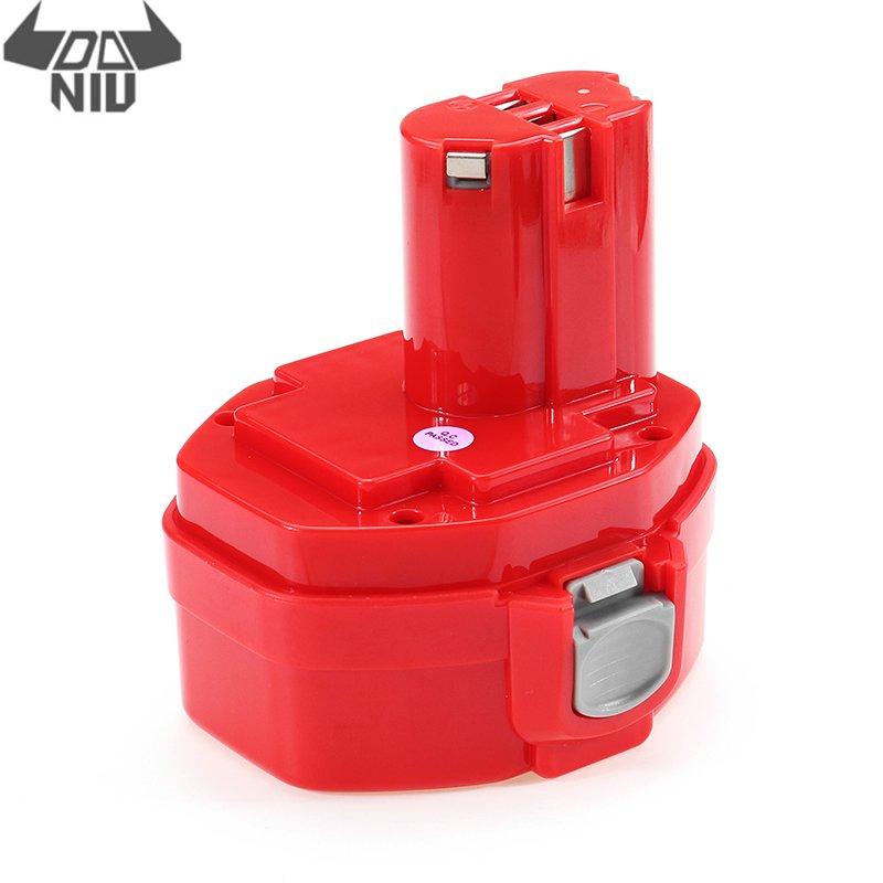 Bateria para Makita Furadeira sem Fio Substituição da Ferramenta Daniu Vermelho 14.4 v Ni-cd 1.3 – 1.5 2.0ah 1420 1434 Elétrica 1 Pçs Mak-14.4