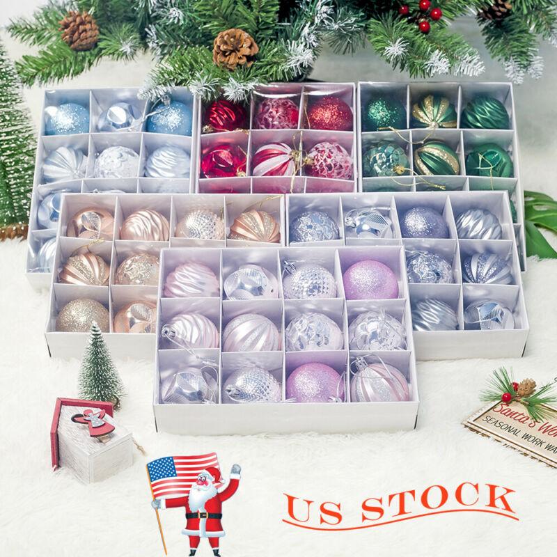 12pcs/lot 60mm Christmas Tree Decor Ball Baubles Xmas Party Hanging Ball Ornament Decoration Xmas Hanging Home Christmas Decor