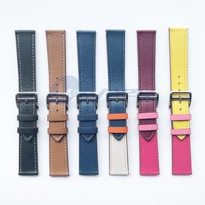 Image 2 - Fashion Genuine Leather Watch Band Strap for Xiaomi Huami Amazfit GTS 2 / Mini Bip Lite S U Leather Sporty Wrist band strap
