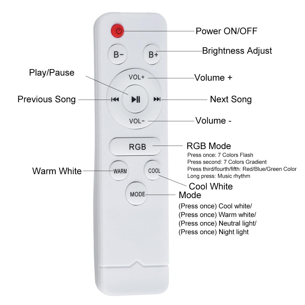 Ceiling Light Music Speakers Bluetooth Wireless