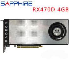 Safir Video kartı RX470 4GB 256Bit GDDR5 grafik kartları AMD RX 400 serisi VGA kartları RX 470 DisplayPort 570 580 480