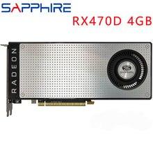 SAPPHIRE Video Karte RX470 4GB 256Bit GDDR5 Grafiken Karten für AMD RX 400 serie VGA Karten RX 470 DisplayPort 570 580 480 verwendet