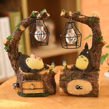 New Creative Cute Resin Totoro Night Light LED Bedside Nightlights For Children Birthday Gift Room Decor