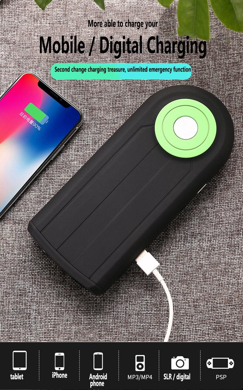 Portable Super puissance LED projecteur batterie externe voiture saut démarreur d'urgence 12V dispositif de démarrage voiture batterie Booster chargeur