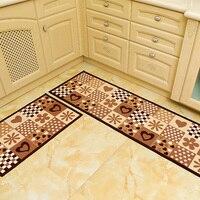 Printed Kitchen Carpet For Room Large Rug For Living Room Water Absorption Floor Mat For Kitchen 2 Pcs Anti Slip Bathroom Carpet