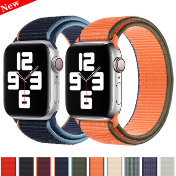 crested sport nylon band for apple watch 3 42mm 38 mm wove nylon watch strap for iwatch series 3 2 1 wrist bracelet watch band Sport Loop strap for Apple Watch band 40mm 44mm bracelet Series 6 SE 3 4 5 Nylon Belt iWatch band 38mm 42mm apple watch strap