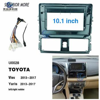 10.1 inch car radio Fascias for TOYOTA Vios Yaris 2013-2017 Dashboard Frame Installation dvd gps mp5 android Multimedia player image