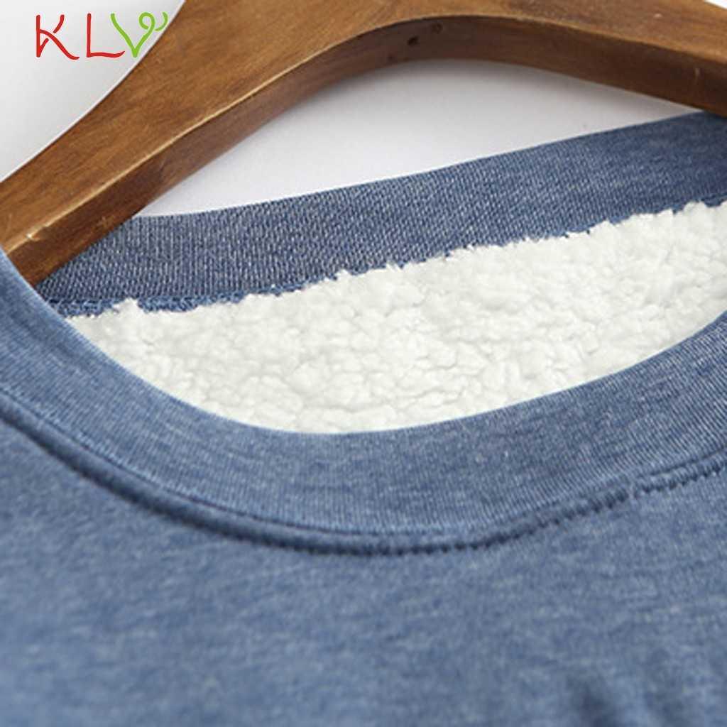 女性 Tシャツ冬プラスベルベット長袖シャツ暖かい厚手 tシャツヴィンテージストリート Camiseta Feminina スリムトップス 19Oct