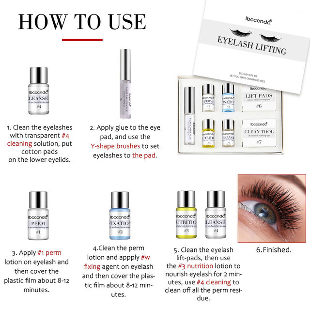 Professional Lash Lift Kit Eyelash Perming Kit for Eyelash Perm with Rods Glue Dropshipping Salon Home Use Lash Lifting Tools