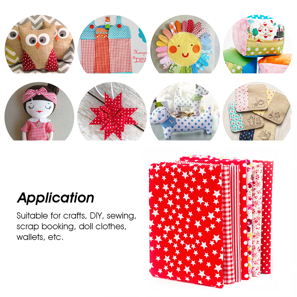 50pcs 8 x 8 inches Multicolor Cotton Fabric Bundle Squares for Quilting Sewing Precut Fabric Squares for Craft Patchwork