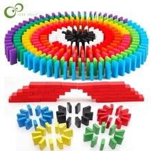 Игрушки домино, деревянные аксессуары, блоки для органов, радужные Пазлы домино Монтессори, развивающие игрушки для детей ZXH