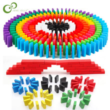 Domino Toys Wooden Institution Accessories Organ Blocks Rainbow Jigsaw Dominoes Montessori Educational Toys for Children ZXH(China)