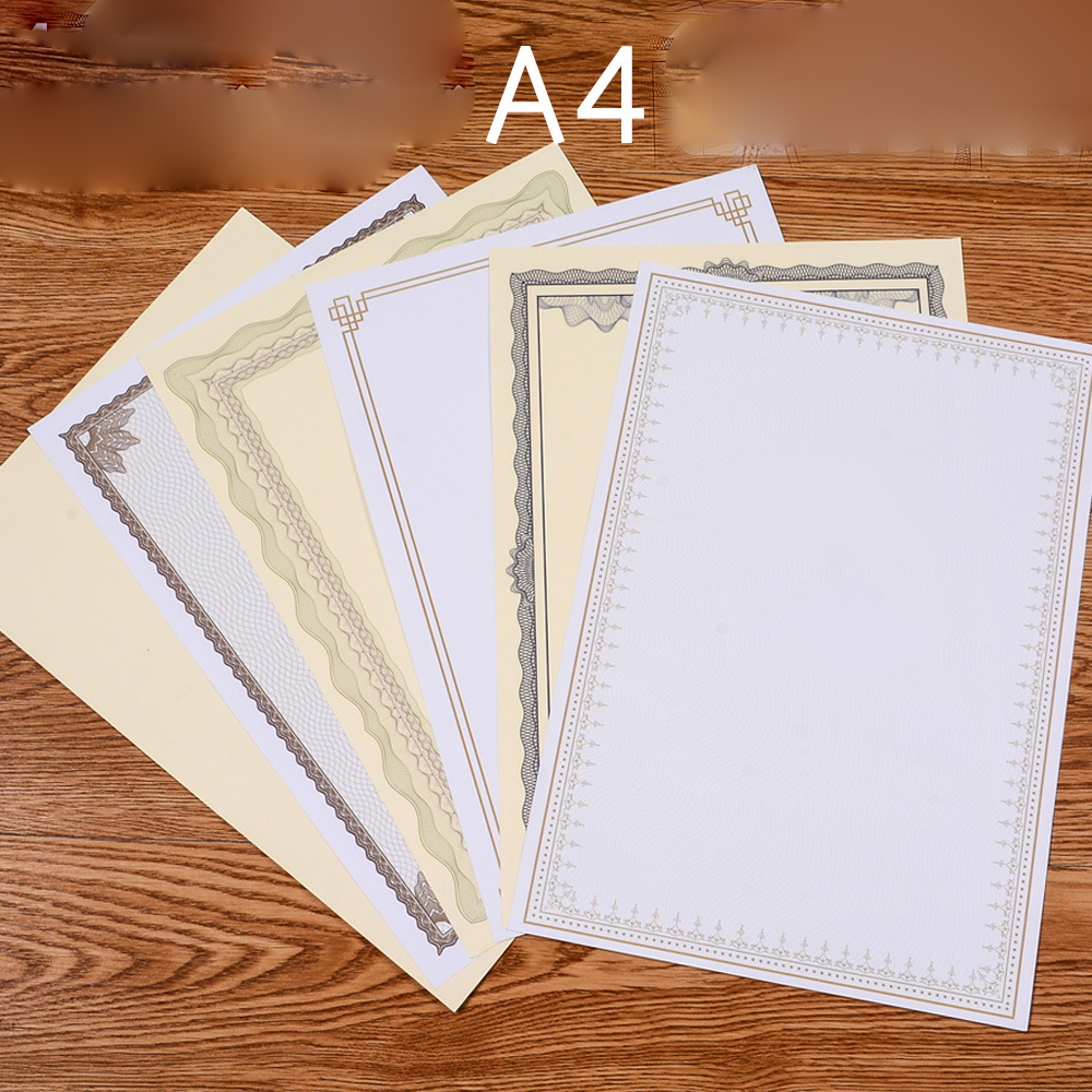 20 Sheets Per Bag A4 Thick Blank Printable Retro Paper Certificate Inside Page 140g certificate Core Innovative New Style DIY