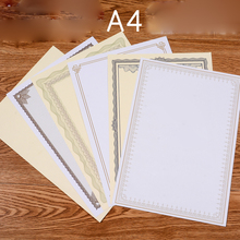 Buy 20 Sheets Per Bag A4 Thick Blank Printable Retro Paper Certificate Inside Page 140g certificate Core Innovative New Style DIY directly from merchant!