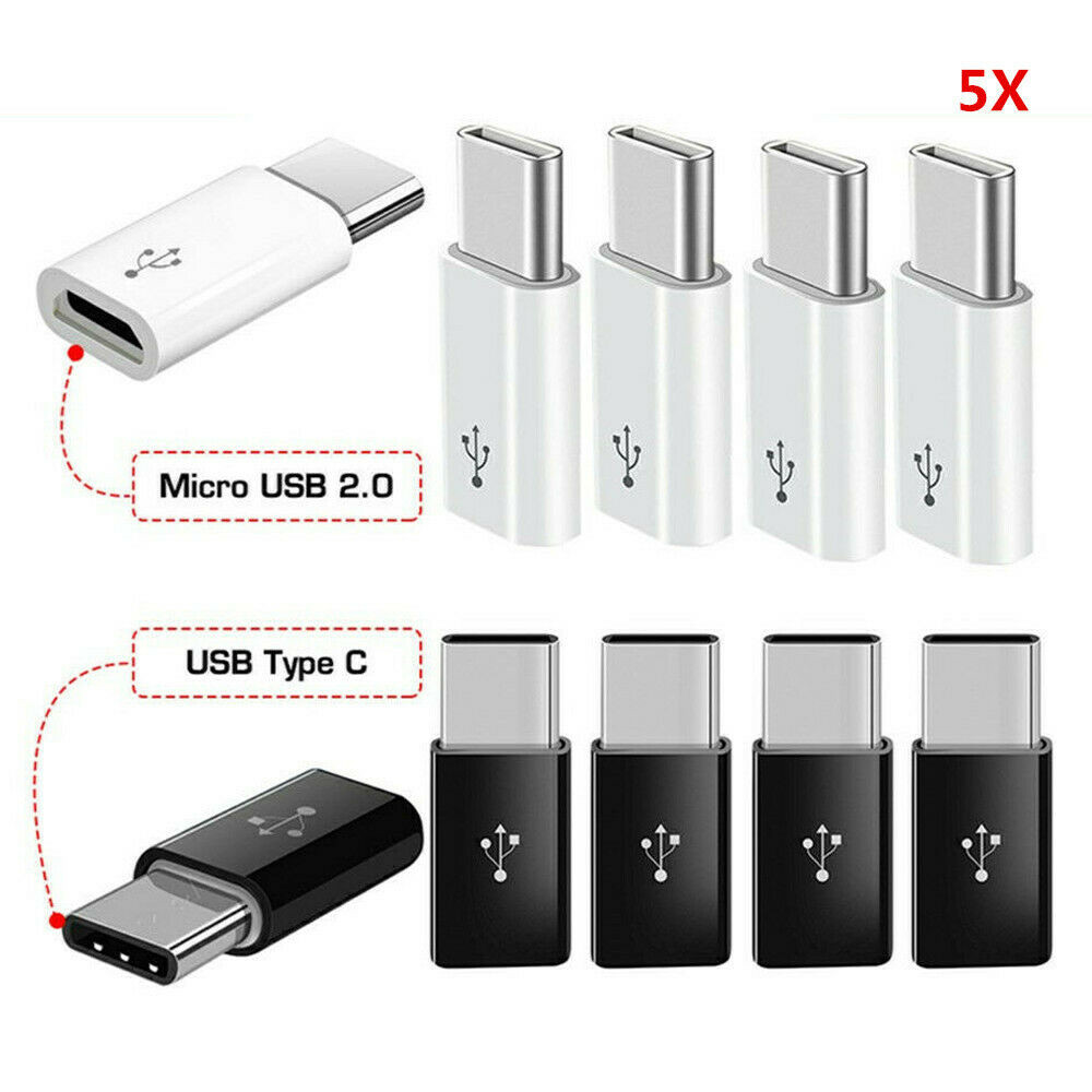 New Android Micro USB Adapter USB Female To Type-C Connector Male Adapter Converter Micro-B To USB-C Connector Charging Cable