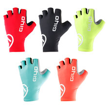 Giyo quebra vento luvas de ciclismo metade do dedo anti-deslizamento luvas de bicicleta de corrida de estrada luva mtb biiclet guantes ciclismo