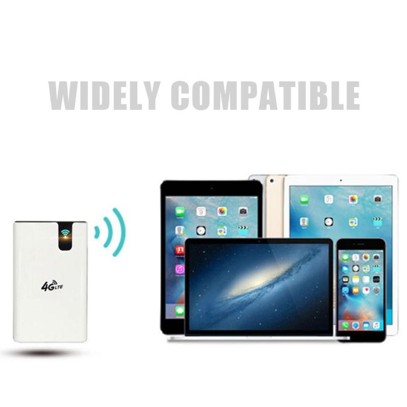 Wireless Dual Core 4G LTE 7500mAh Battery Powerbank Qualcomm 150Mbps WiFi Router