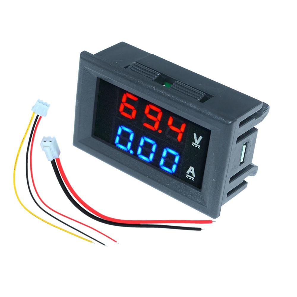 Mini Digital Car Voltmeter Ammeter DC 100V 10A 50A 100A LED Display Panel Amp Volt Voltage Current Meter Tester Detector