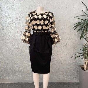 Image 3 - Ensemble de 2 pièces, robes de Style africain pour femmes, vêtements africains élégants, Ankara, à la mode, 2020