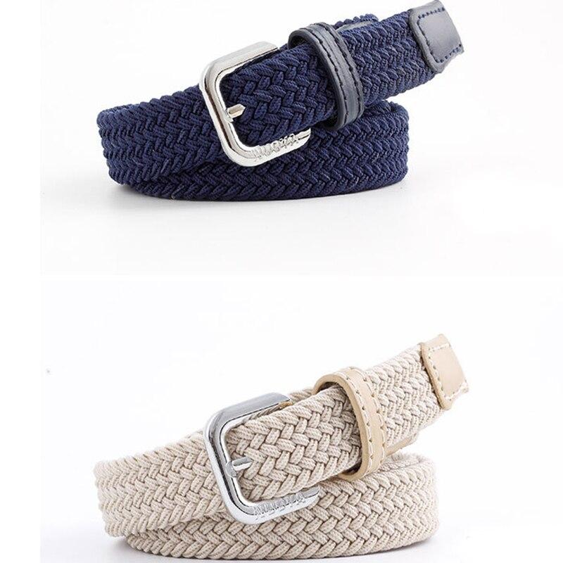 New Braided Belt Unisex Woven Thin Belt Elastic Elastic Casual Pants Student Trend Parent-child Suit Canvas Belt  Designer Belt