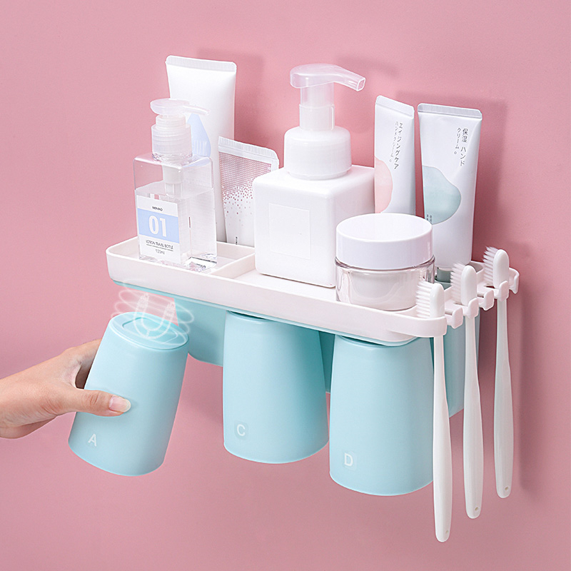 Bathroom Accessories Set Electric Toothbrush Holder Automatic Toothpaste Dispenser Holder  Wall Mount Rack Bathroom Tools Se