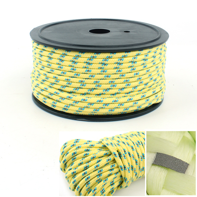 5mm Paracord 10m 20m 50m Reflective Tent Rope Outdoor Camping Hiking Climbing Fishing Hunting Survival Windproof Rope