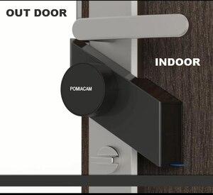 Image 4 - S2 חכם שרלוק מנעול Bluetooth טלפון APP שלט דלת אלקטרוני נגד גניבת נעילה למשרד בית שינה אבטחה