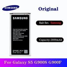 5 шт Оригинальные аккумуляторы samsung s5 2800 мАч для galaxy