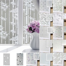 Película esmerilada en vidrio autoadhesiva impermeable ventana privacidad película adhesiva de PVC papel de película de vidrio para la decoración del cuarto de baño sala de estar