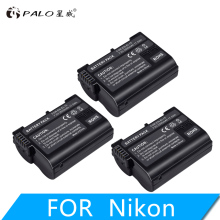 PALO 3pcs 2500mAh EN-EL15  EN EL15 ENEL15 7V battery case  for Nikon DSLR D600 D610 D800 D800E D810 D7000 D7100 D7200 l15 2x decoded en el15 bateria enel15 en el15 camera battery for nikon d500 d600 d610 d750 d7000 d7100 d7200 d800 d850 d810 d810a