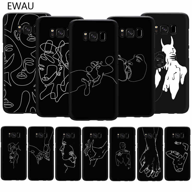 Art Abstracte Lijnen Soft Tpu Phone Cover Case Voor Samsung S6 S7 Rand S8 S9 S10 Plus S10e Note 8 9 10 M10 M20 M30
