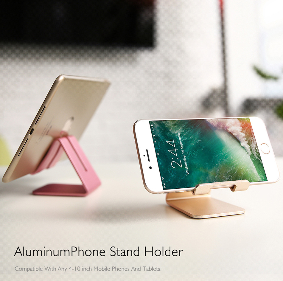 Desktop Holder Tablet Stand For iPad Pro 11 10.5 10.2 9.7 mini Phone Holder For iphone Samsung Xiaomi Huawei Metal Tablet Stand