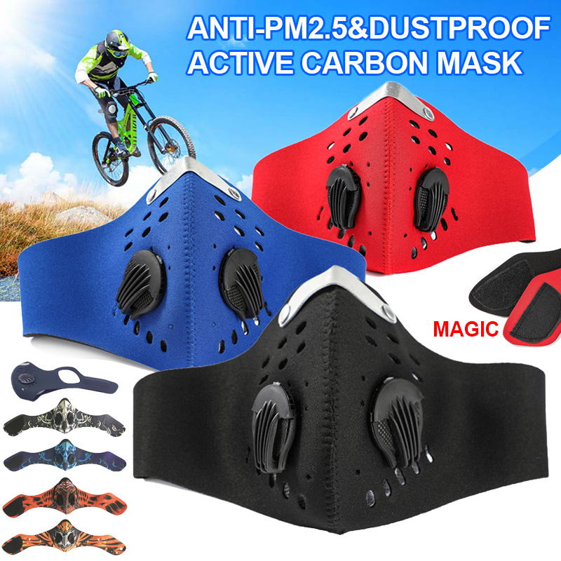 PM2.5 Face Mask Half Anti Dust Pollution Breathing Activated Carbon Dustproof Mask Filter Sport Cycling Bicycle Bike