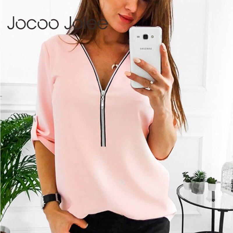 Zipper Kurzarm Frauen Shirts Sexy V-ausschnitt Solide Frauen Tops Und Blusen Casual Tee Shirts Tops Weibliche Kleidung Plus größe 5XL